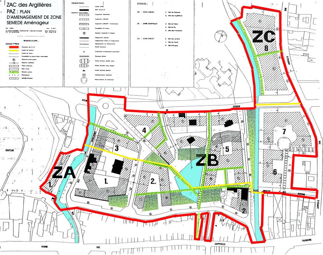 Plan Du Centre Ville De Gisors