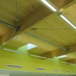 Matière plafond et charpente bois