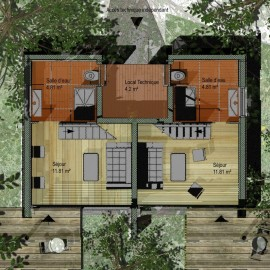 Module de logements jumelés